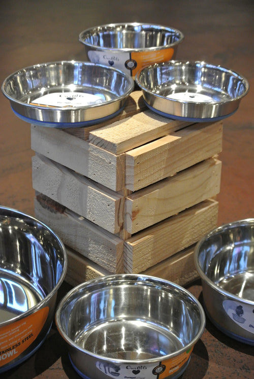 Durapet Stainless Steel No Skid Bowls for Pets