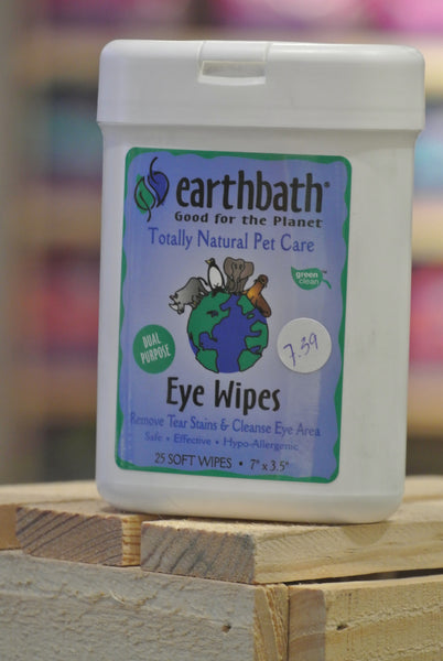 Earthbath® Eye Wipes for Cats and Dogs