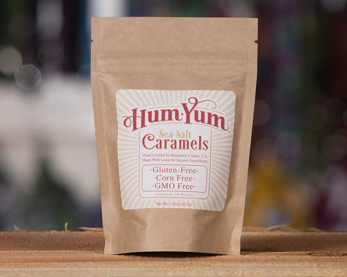 Hum Yum Sea Salt Caramels for Humans 1.5oz