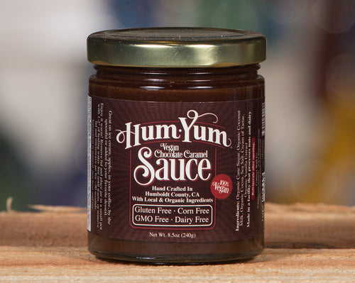 Hum Yum Vegan Chocolate Caramel Sauce 8.5oz