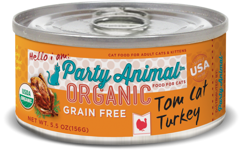Party Animal® Organic Grain-Free Tom Cat Turkey Canned Cat Food