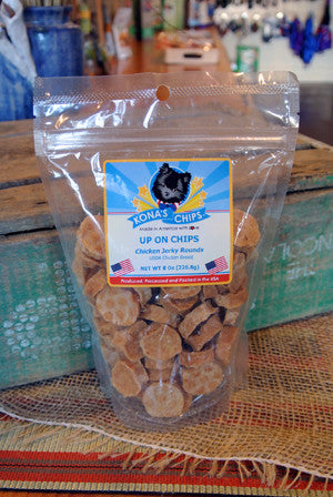Kona's Chips® Up On Chips™ Chicken Jerky Rounds -- 8 oz bag