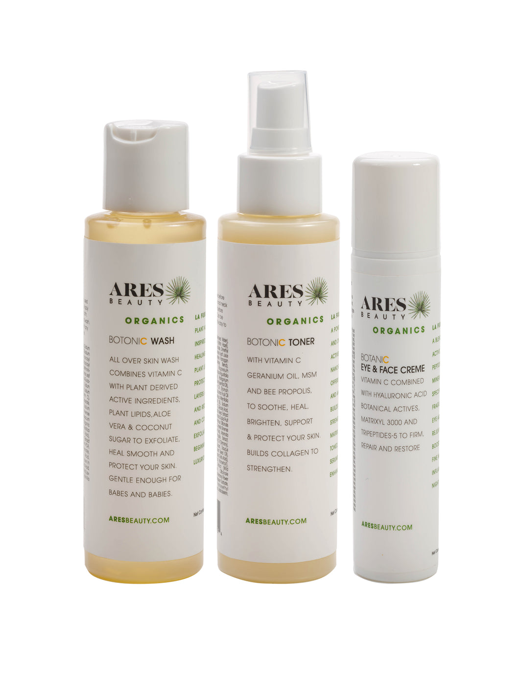 Organic Skin Care Trio Set