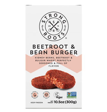 Strong Roots Beetroot and Bean Burgers
