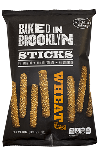 Baked in Brooklyn Breadsticks Wheat Sesame Seeds