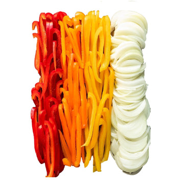 Organic Pre-Cut Assorted Peppers & Onions