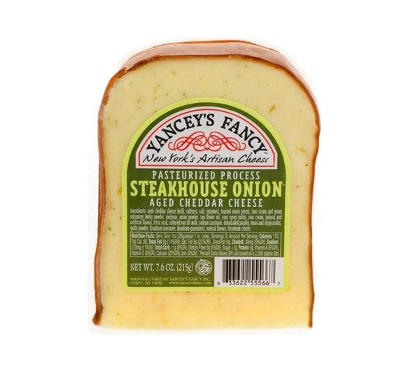 Fancy Steakhouse Onion Aged Cheddar Cheese