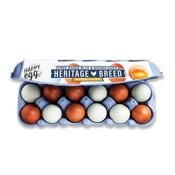 Happy Egg Co Heritage Breed Amber Yolk Eggs