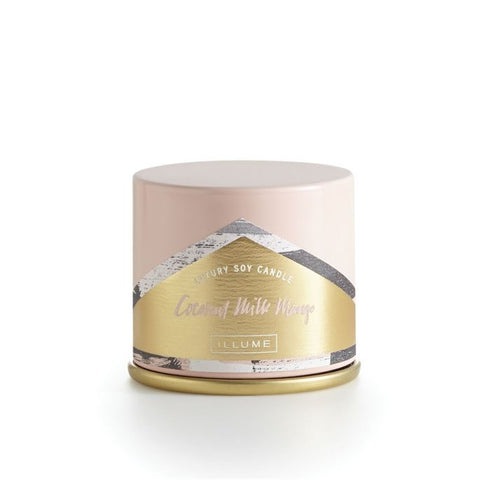 illume Candle Demi Vanity Tin Coconut Milk Mango