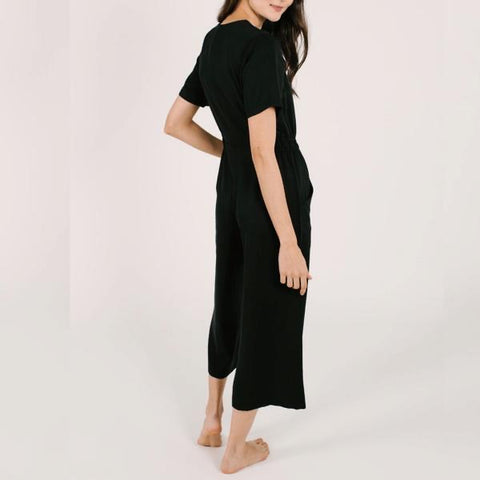 Smash + Tess - The Jane Romper in Barely Black
