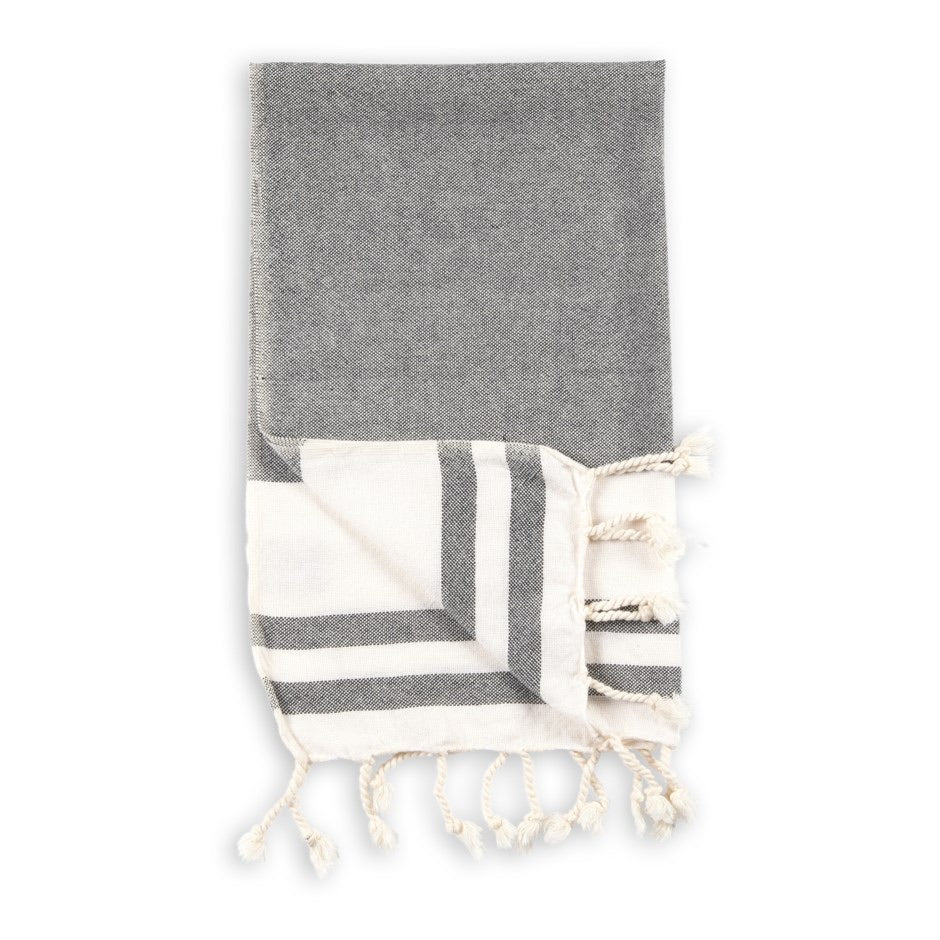 Turkish Hand Towel Classic Black