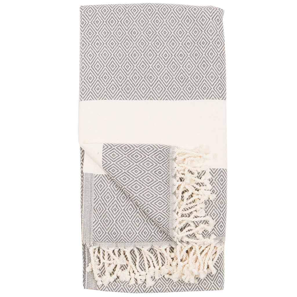 Turkish Bath Towel/ Throw Blanket Diamond-Slate