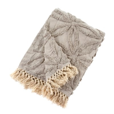 Tufted Lola Throw, Taupe