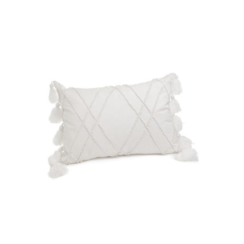 FRENCH KNOT PILLOW WHT