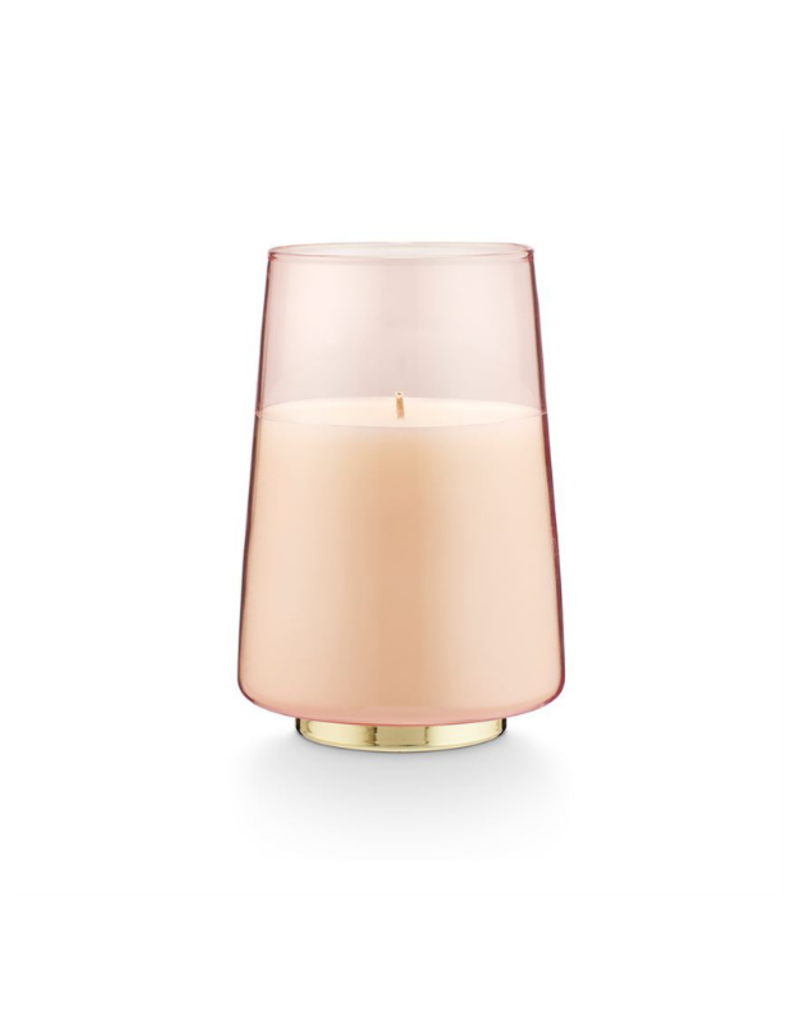 PINK PINE GLASS CANDLE