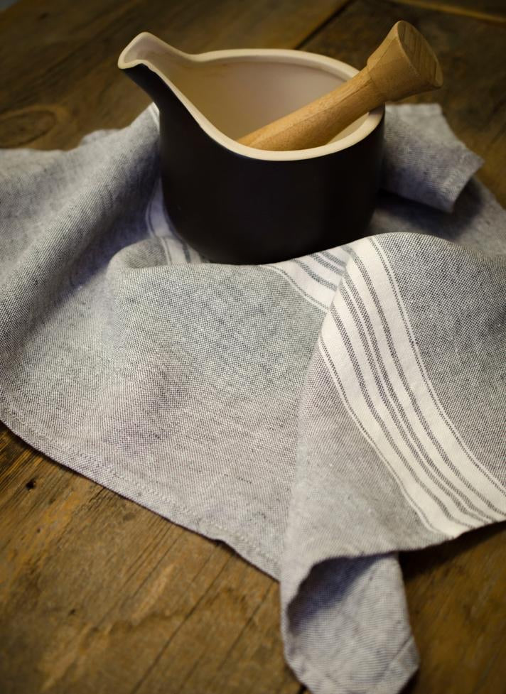 Maison Linen Tea Towel, Charcoal