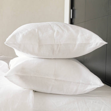 If Only Home      White French Linen Pillowcases (Pair)