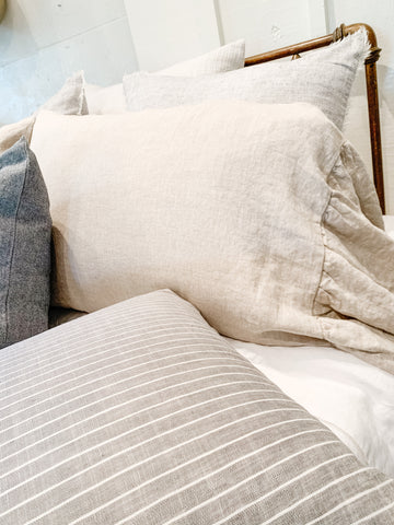 Linen Ruffle Pillowcase