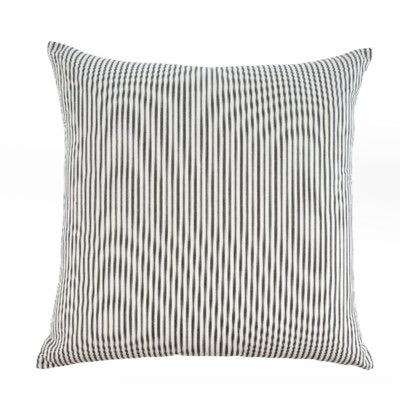 Ticking Pillow Black