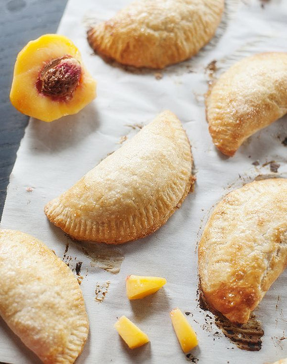 Fresh Peach Hand Pies Infused with Peach Green Tea