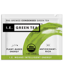 Pure organic instant green tea packets