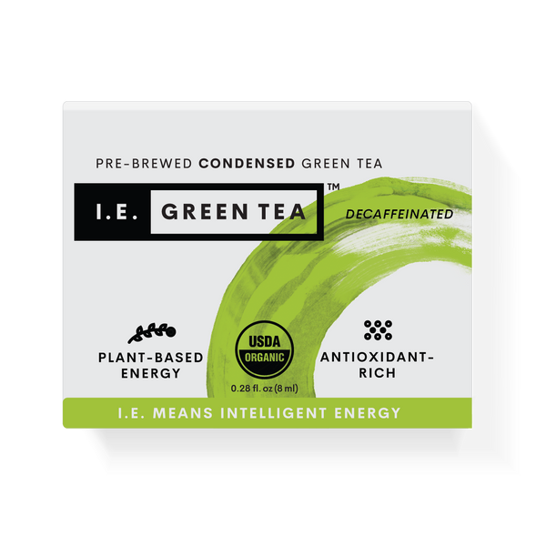 Decaf organic green tea packets