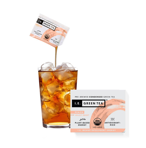 High antioxidant iced peach green tea caffeinated