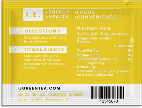 Decaf lemon green tea nutrition facts