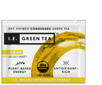 Liquid green tea packets with natural lemon