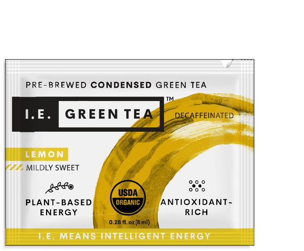 Green tea packets for water bottles - organic lemon