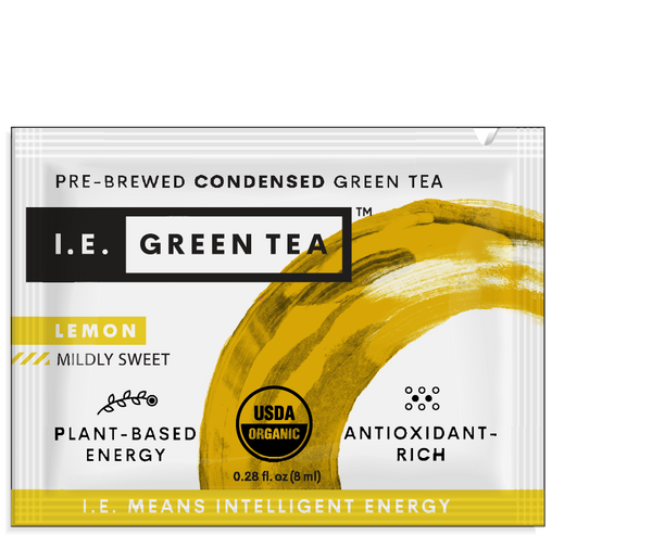 green tea packets lemon organic instant green tea