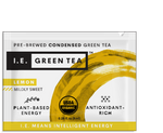 Caffeinated green tea with lemon green tea packets