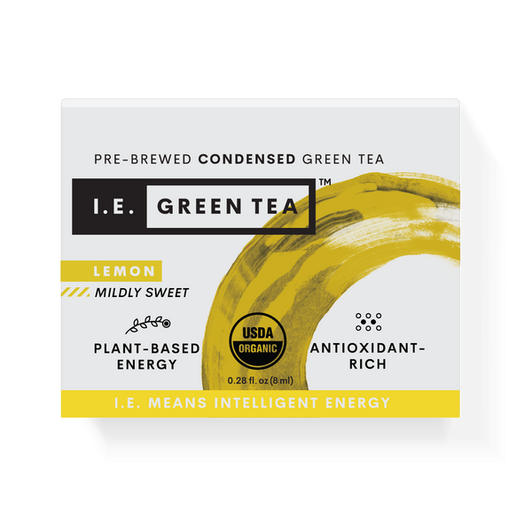 Caffeinated green tea with lemon organic