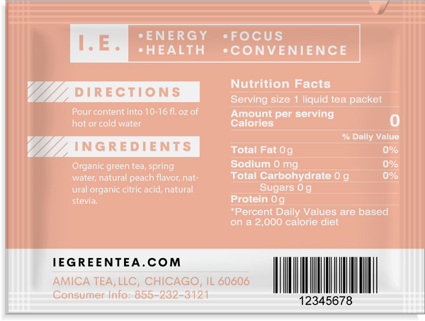 Decaffeinated peach green tea packets ingredients