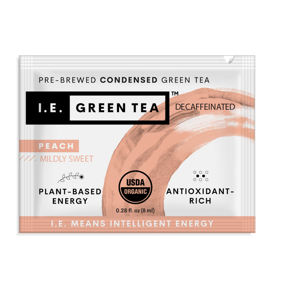 Decaf peach green tea instant green tea packets