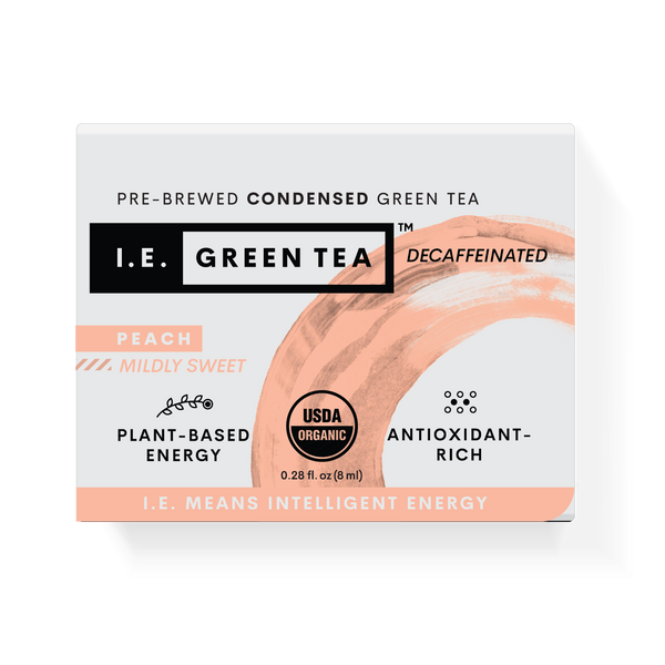 Decaffeinated Peach Green Tea - Inner Carton (12 x 8-ct boxes)