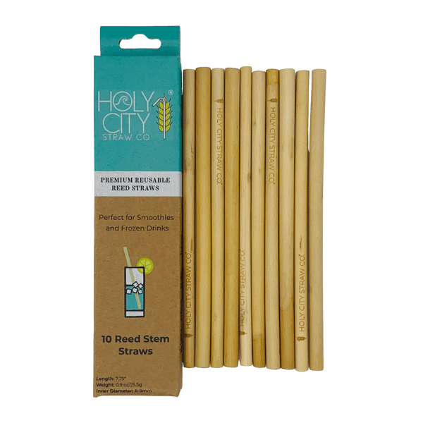 Reusable Reed Straws by Holy City Straw Company