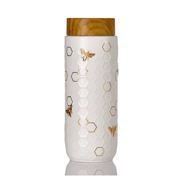 Honey Bee Travel Mug / Gold 16 oz ( New Arrival ! ) by ACERA