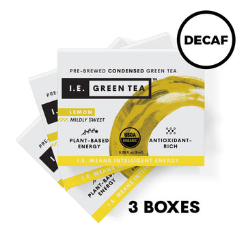 Decaffeinated Lemon Green Tea 3 Box Bundle (8 servings per box)