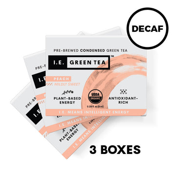Decaffeinated Peach Green Tea 3 Box Bundle (8 servings per box)