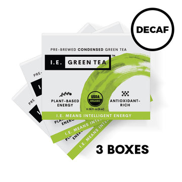 Pure Decaffeinated Green Tea 3 Box Bundle (8 servings per box)