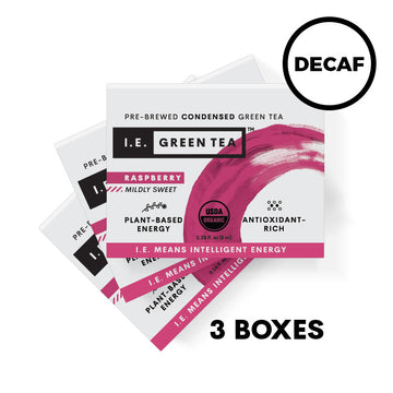 Decaffeinated Raspberry Green Tea 3 Box Bundle (8 servings per box)