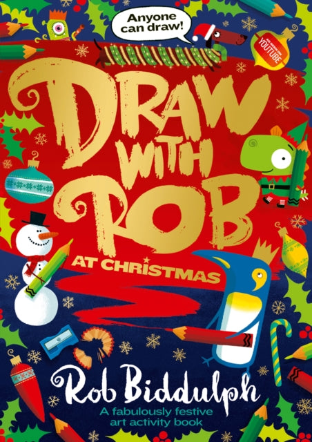 Draw with Rob at Christmas-9780008419127