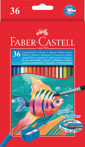 Matite Colorate Acquerellabili Faber Castell Pz.36