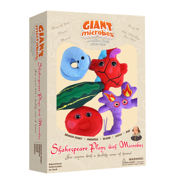Giant Microbes Shakespeare Plays with Microbes Themed Box Set