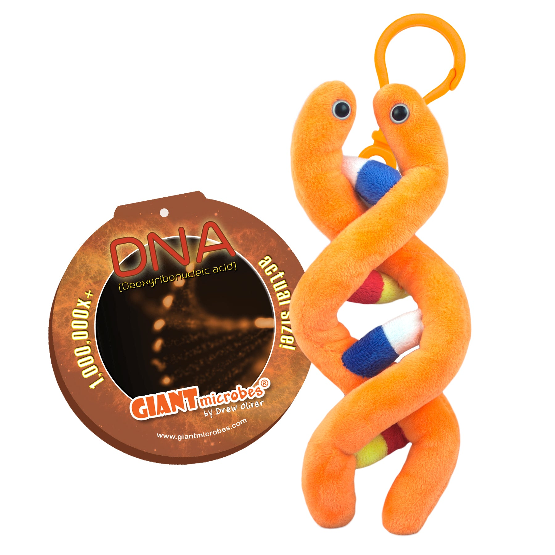 Giant Microbes DNA Keyring - Planet Microbe