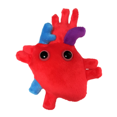 Giant Microbes Original Heart - Planet Microbe