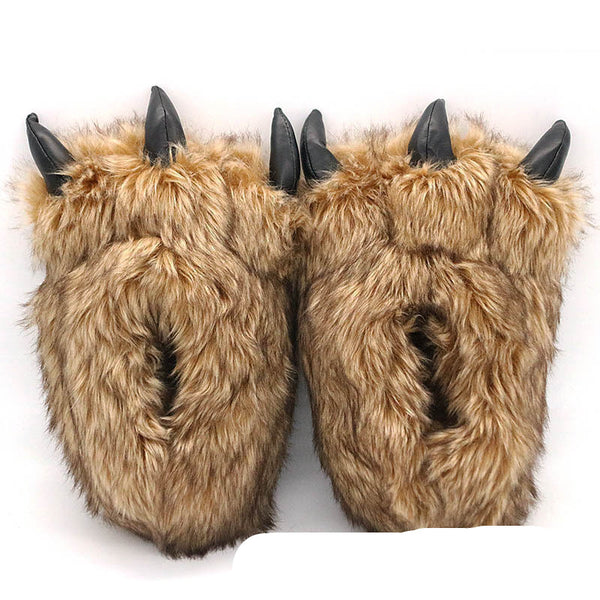 Cartoon animal slippers, Funny Cute Paws Slippers - Cosy meme Slippers Home Shows funny gift
