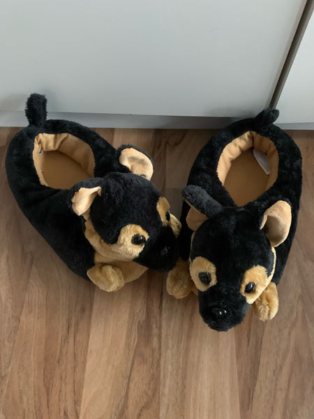 Dog Plush Slippers, Cartoon animal slippers, Funny Cute Slippers,Cosy meme Slippers Home Shows funny gift