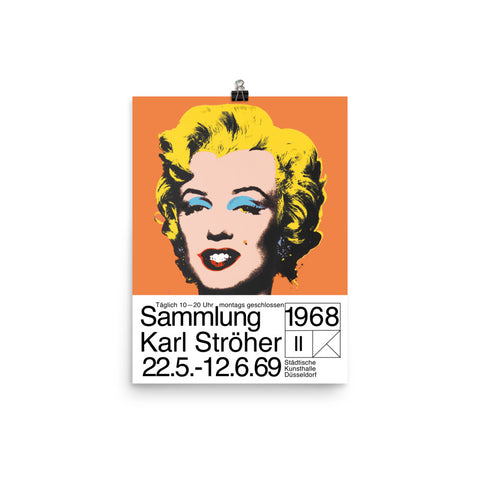 Andy Warhol, Exhibition Poster, Marilyn Monroe Pop Art print. Andy Warhol Print Wall Decor.